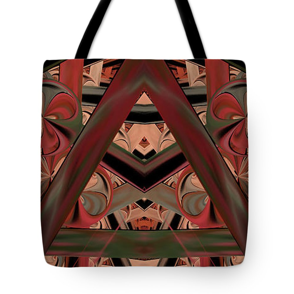 Abstract Tote Bag featuring the digital art Look Within - Abstract by Georgiana Romanovna