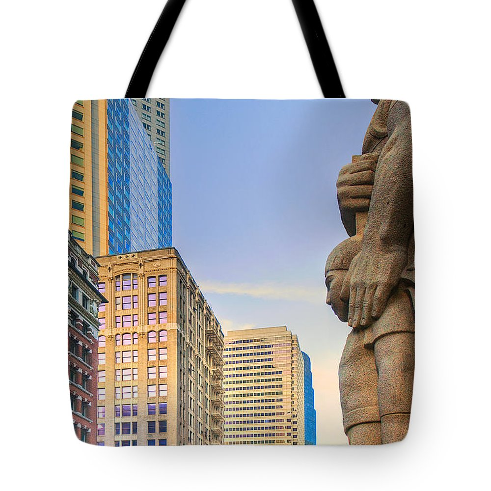 Downtown Tote Bag featuring the photograph Looking Downtown by Mick Burkey