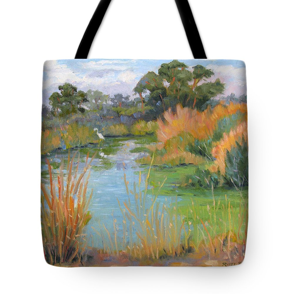 Central Valley Tote Bag featuring the painting Looking For Lunch by Rhett Regina Owings