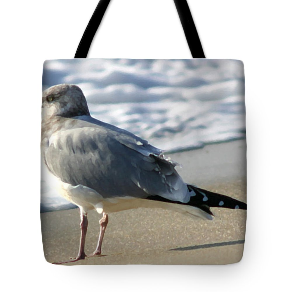 Seascape Tote Bag featuring the photograph Looking Forward by Mary Haber