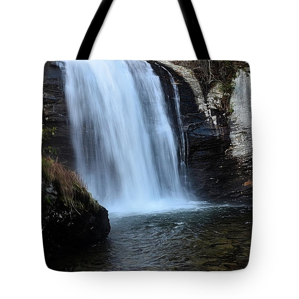 Waterfall.moving Water Tote Bag featuring the photograph Looking Glass Falls by Mike Fairchild
