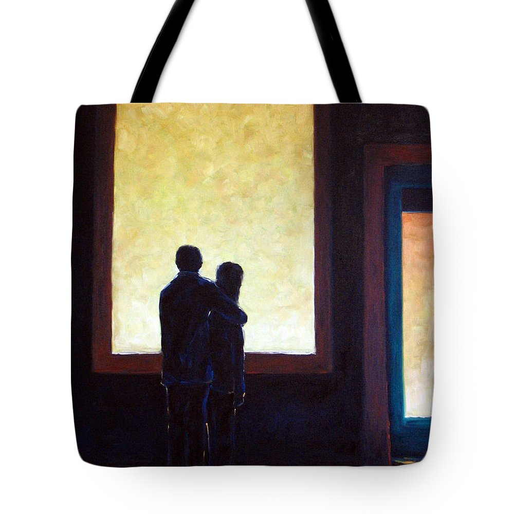 Pranke Tote Bag featuring the painting Looking In Looking Out by Richard T Pranke