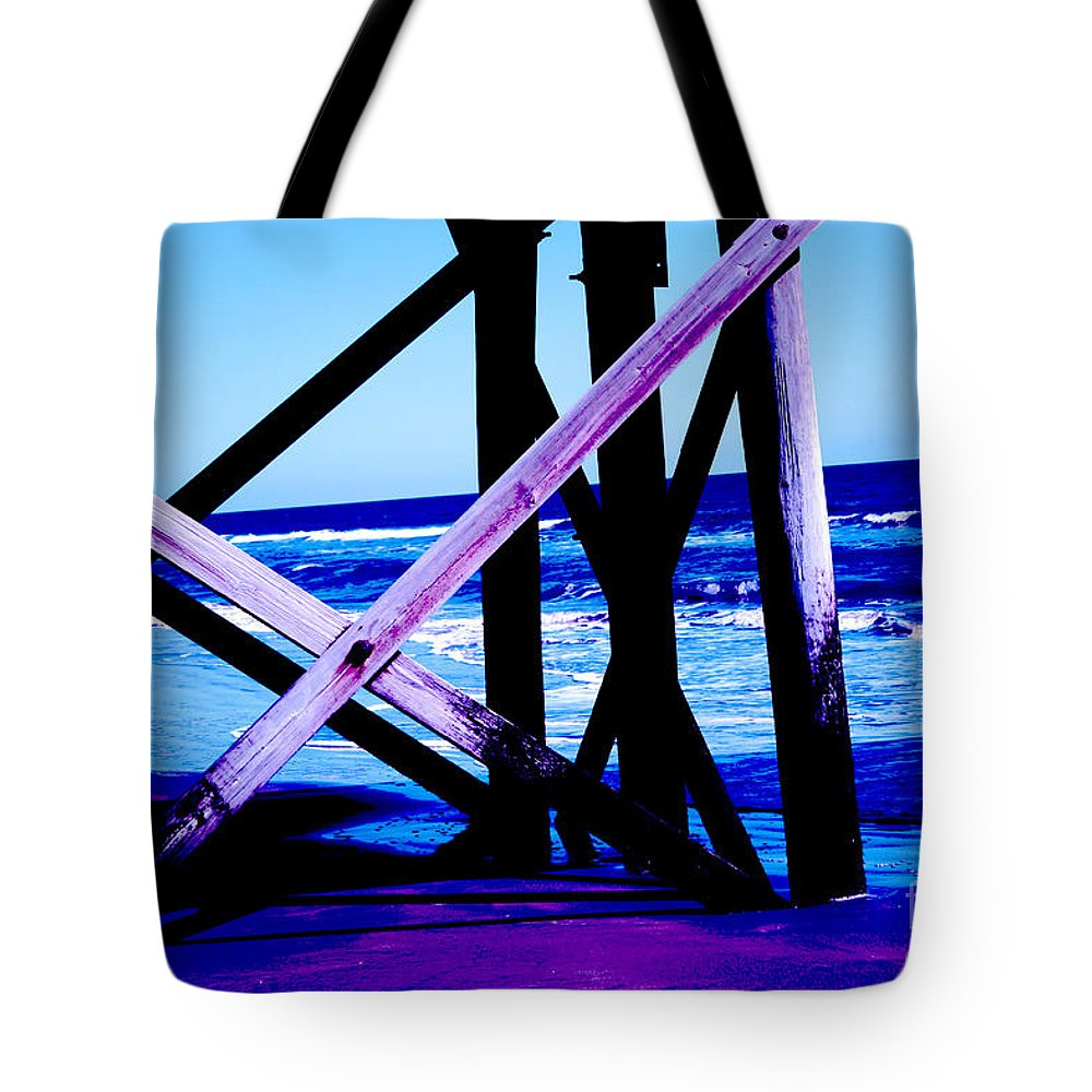 Blue Tote Bag featuring the photograph Looking On - Blue by Jamie Lynn
