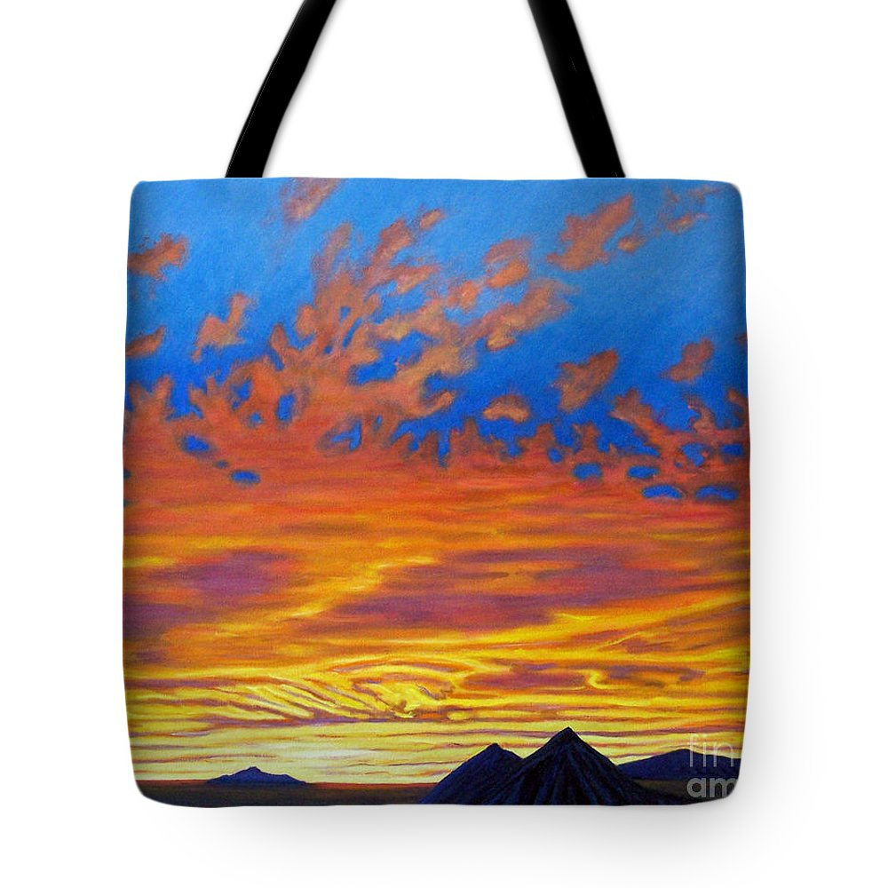 Landscape Tote Bag featuring the painting Looking To The Southwest by Brian Commerford
