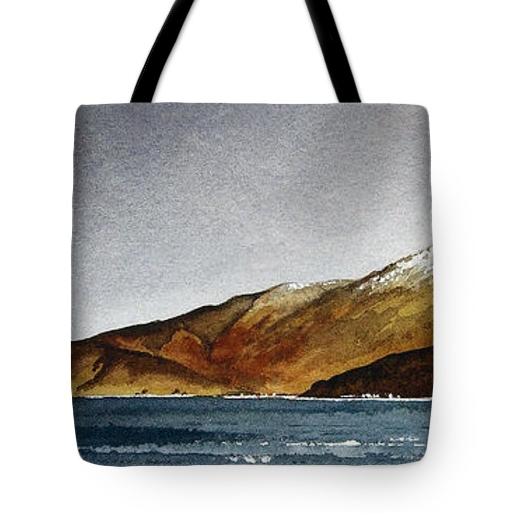 Seascape Tote Bag featuring the painting Looking Towards Arran From Skipness by Paul Dene Marlor