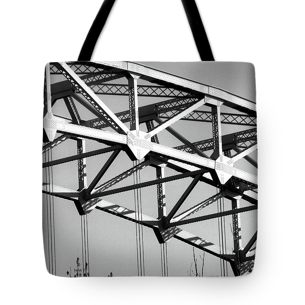 Arrigoni Tote Bag featuring the photograph Looking Up From The Road by RC DeWinter