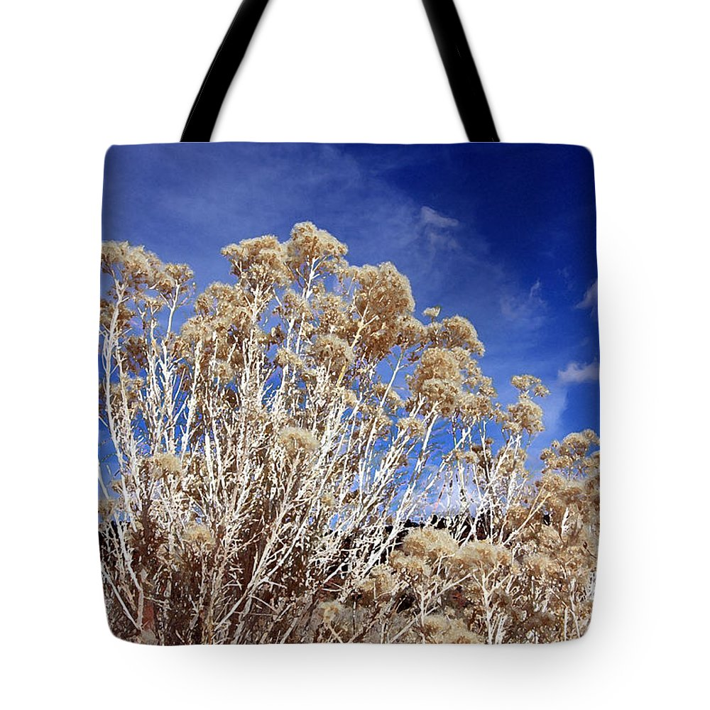 Landscape Tote Bag featuring the photograph Looking Up by Mary Haber