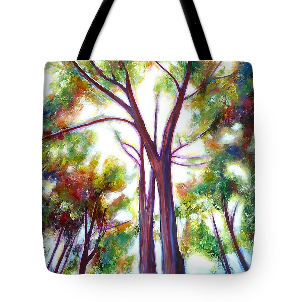 Tree Tote Bag featuring the painting Looking Up by Sheila Diemert