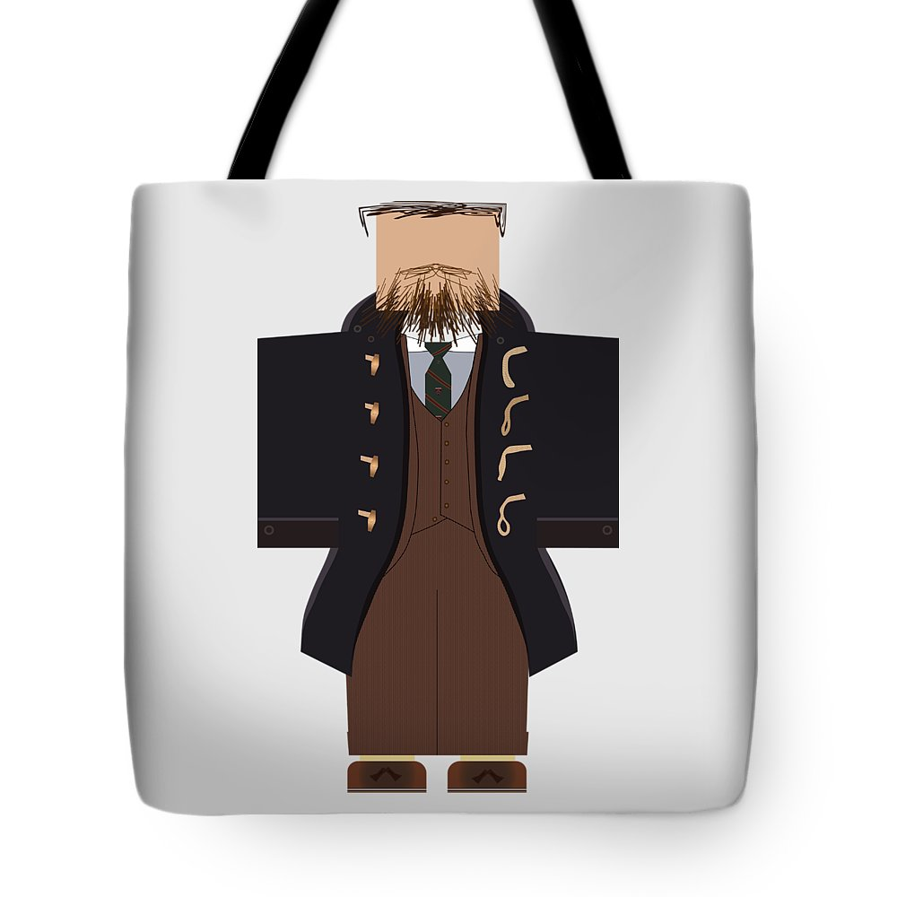 Menswear Tote Bag featuring the digital art Lopo By Larph Raulen #2 by Richard Stoia