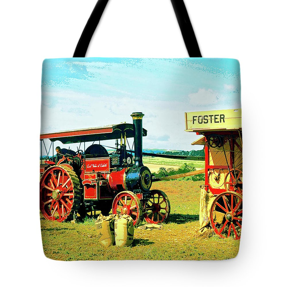 Lord Fisher Tote Bag featuring the mixed media Lord Fisher by Dominic Piperata