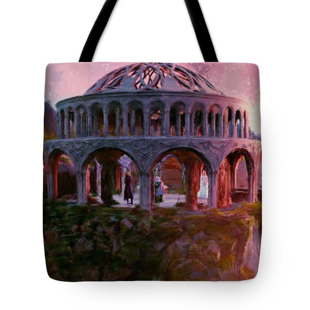 Lord Of The Rings Tote Bag featuring the painting Lord Of The Rings Rivendale by Frank Paul