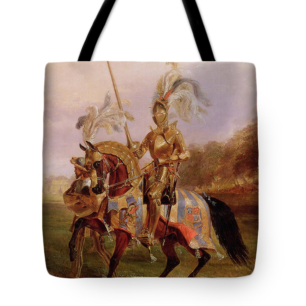 Eglinton Tote Bag featuring the painting Lord Of The Tournament by Edward Henry Corbould