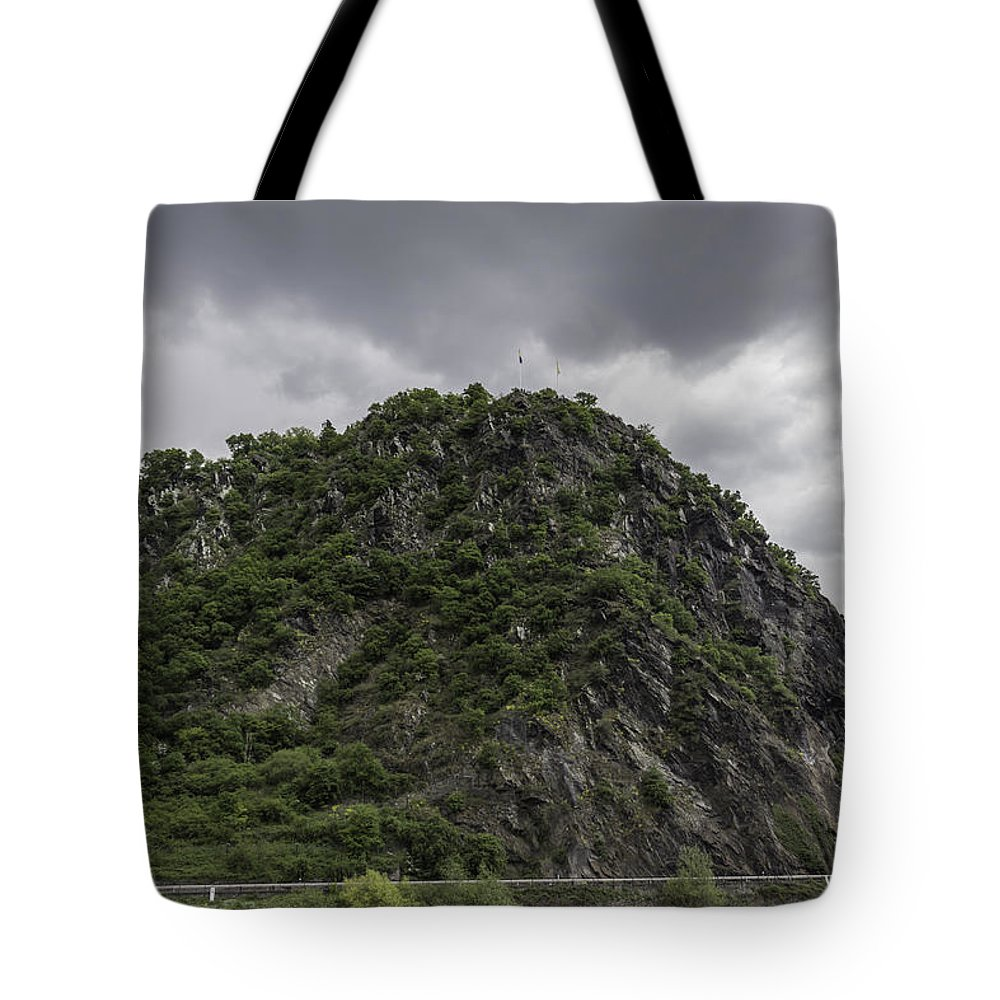 Loreley Tote Bag featuring the photograph Loreley Rock 12 by Teresa Mucha