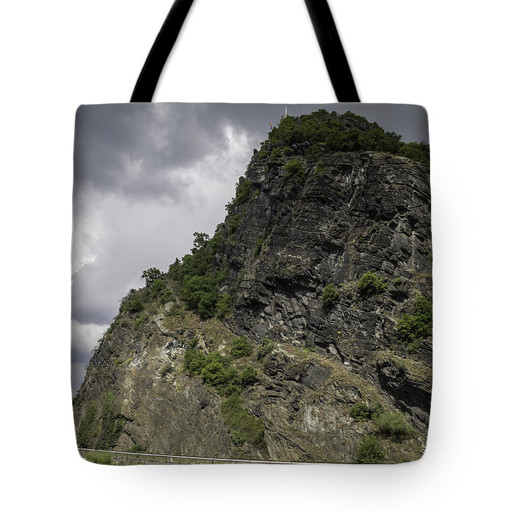 Loreley Tote Bag featuring the photograph Loreley Rock 16 by Teresa Mucha
