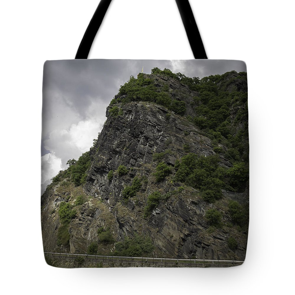 Loreley Tote Bag featuring the photograph Loreley Rock 17 by Teresa Mucha