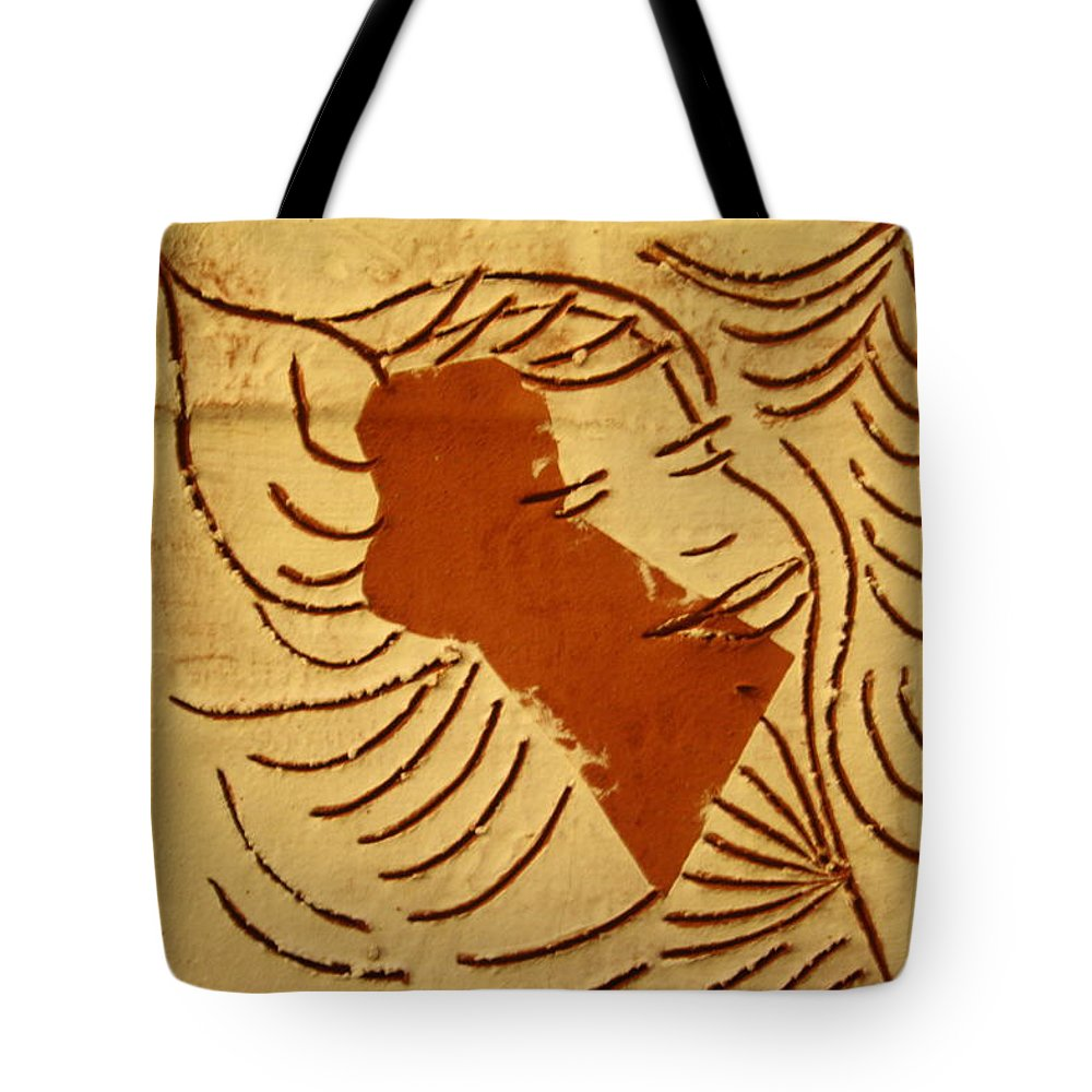 Jesus Tote Bag featuring the ceramic art Lornah- Tile by Gloria Ssali