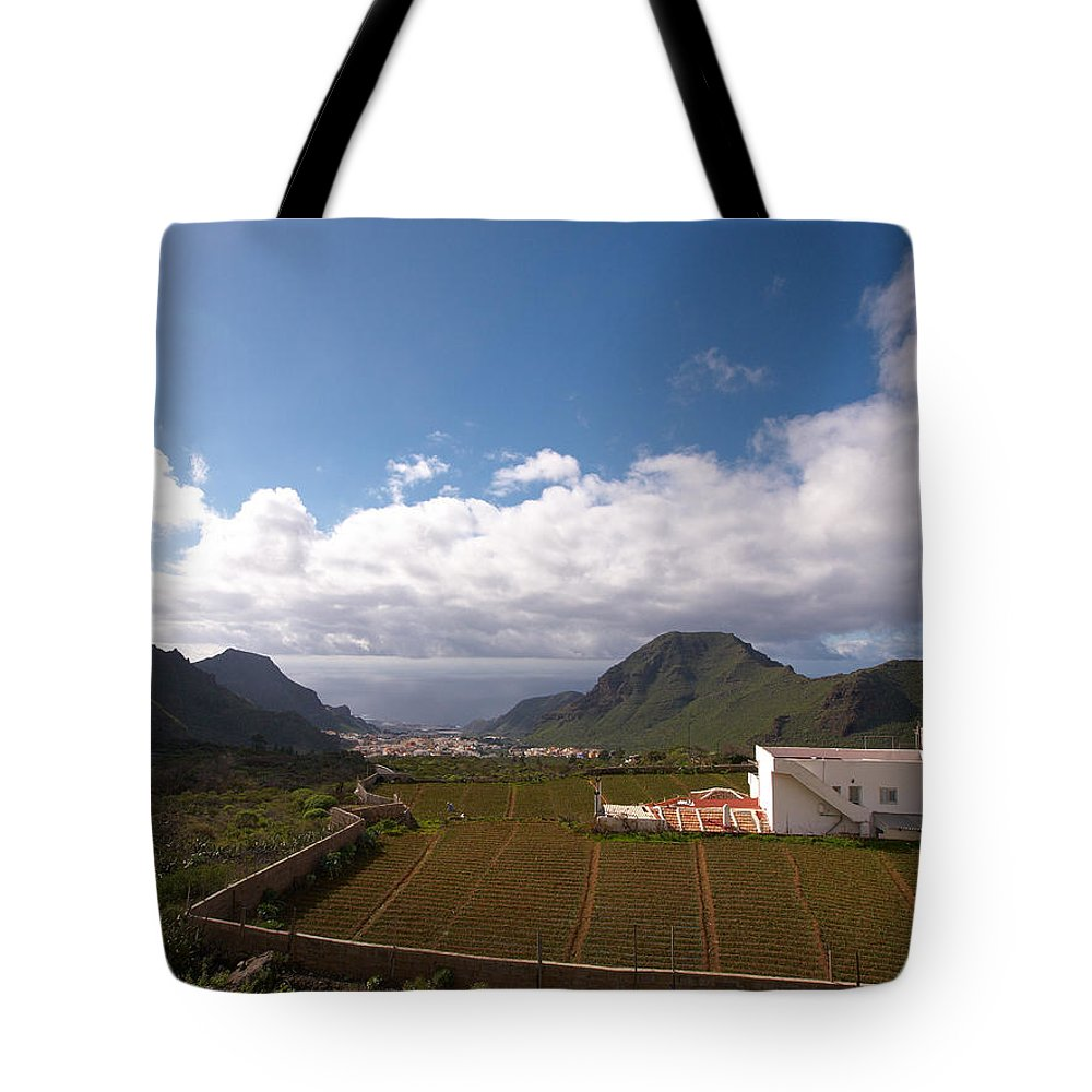 Landscape Tote Bag featuring the photograph Los Gigantes by Jouko Lehto
