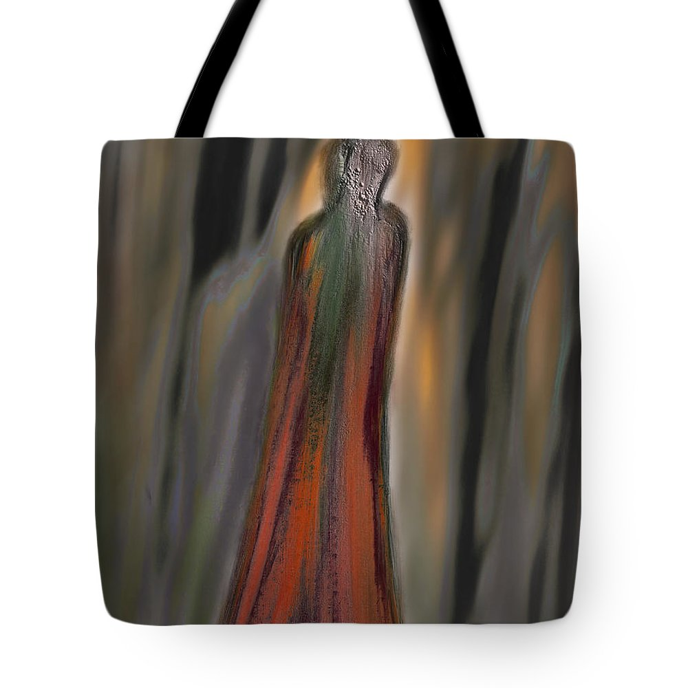 Apple Pencil Drawing Tote Bag featuring the painting Lost by Bill Owen