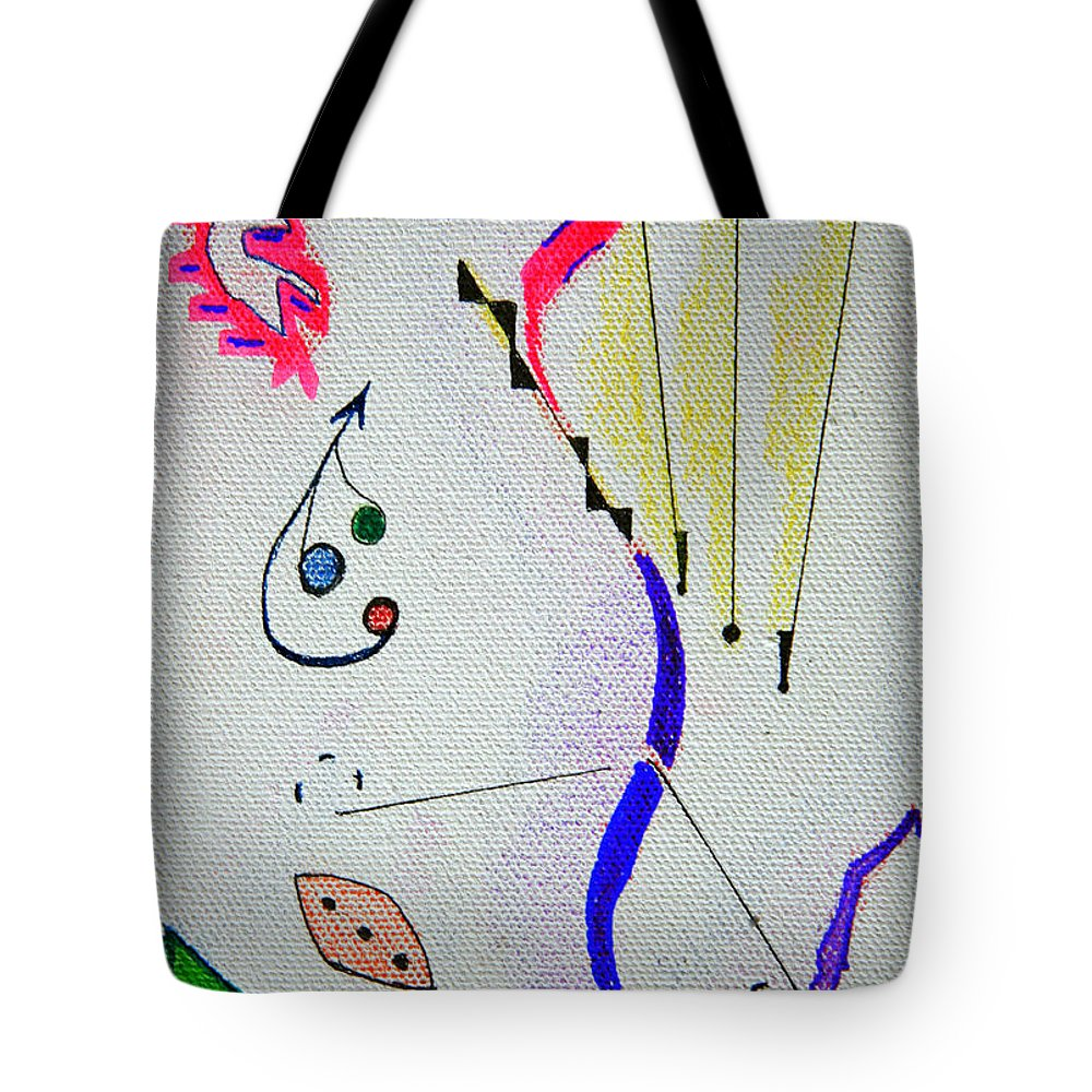 Abstract Tote Bag featuring the mixed media Lost Directions by J R Seymour