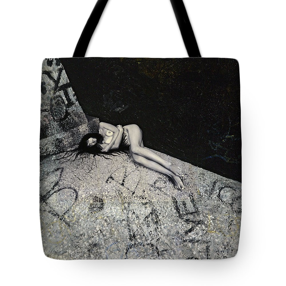 City Tote Bag featuring the painting Lost In New York by Yelena Tylkina