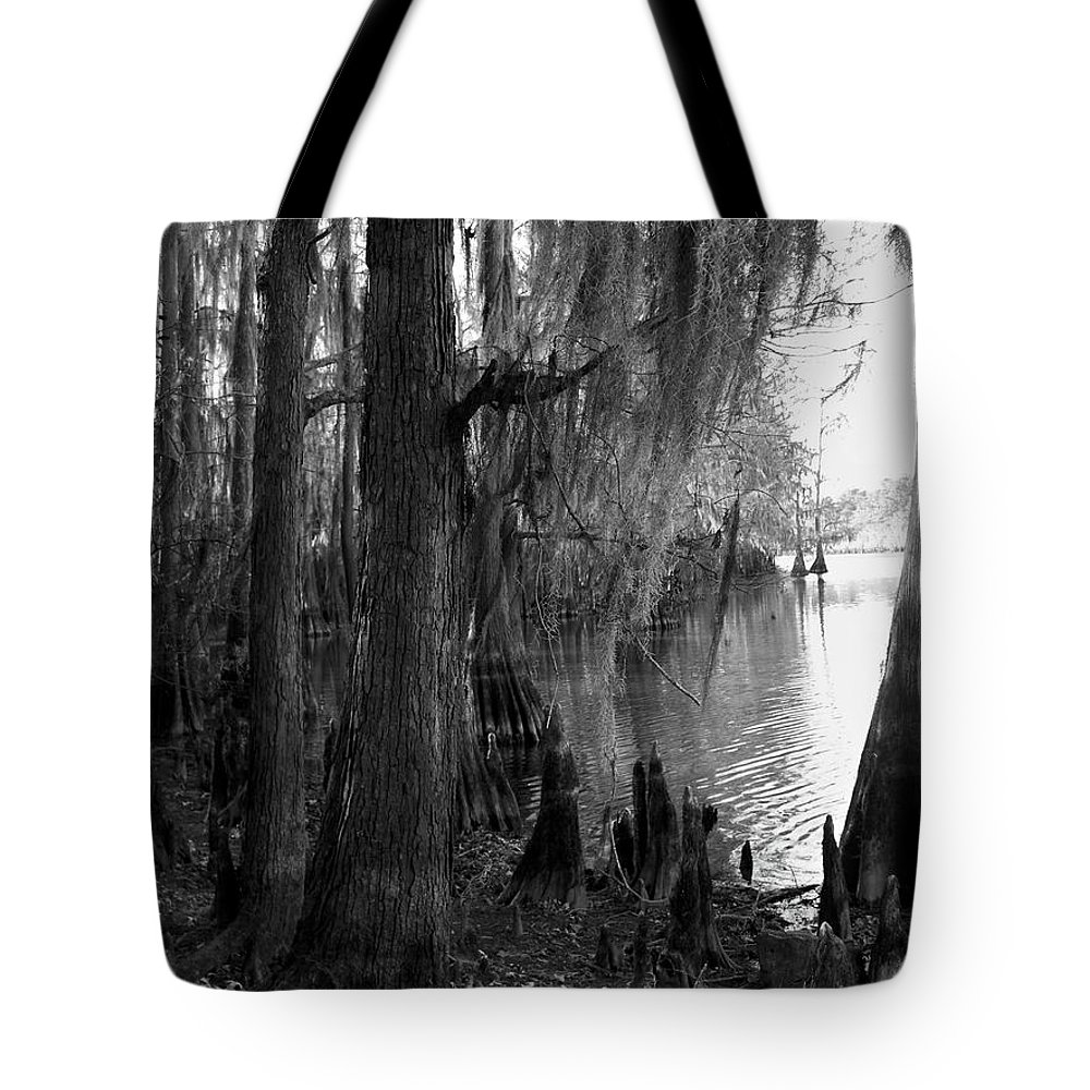 Caddo Tote Bag featuring the photograph Lost In Time by Betty Northcutt