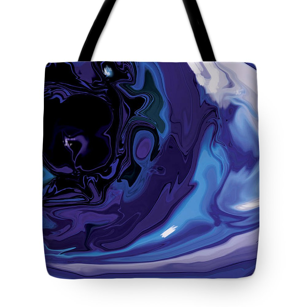 Blue Tote Bag featuring the digital art Lost-in-to-the-eye by Rabi Khan