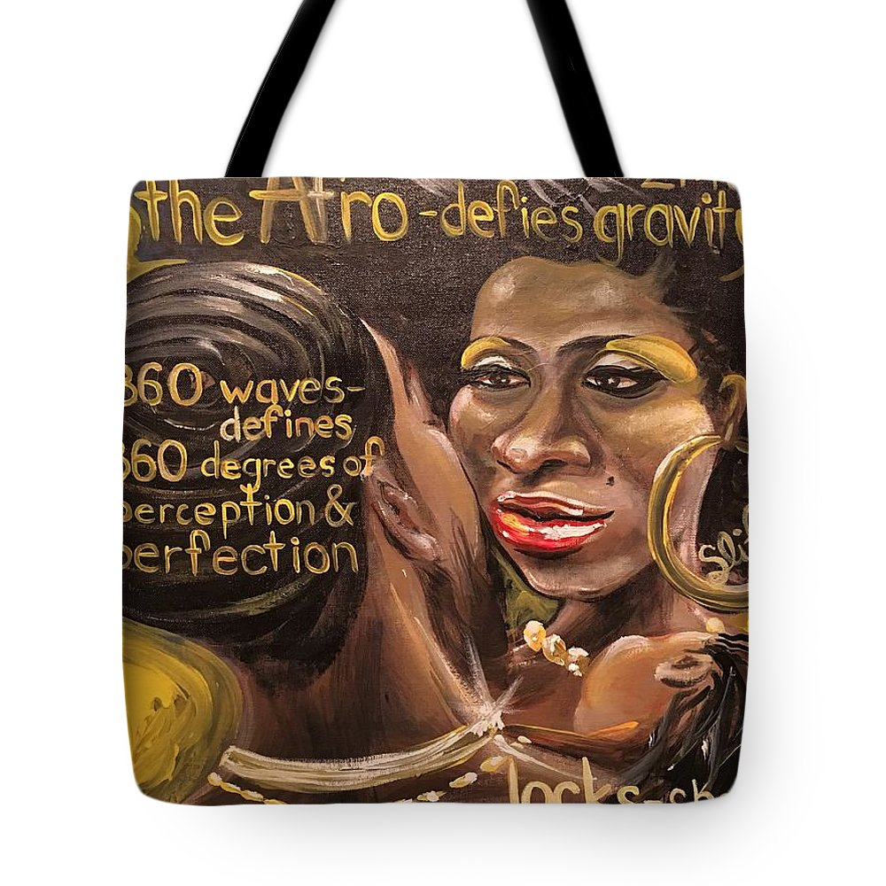 Culture Tote Bag featuring the painting Lost Knowledge Of The Royal Crown Of Judah by Sean Ivy aka Afro Art Ivy