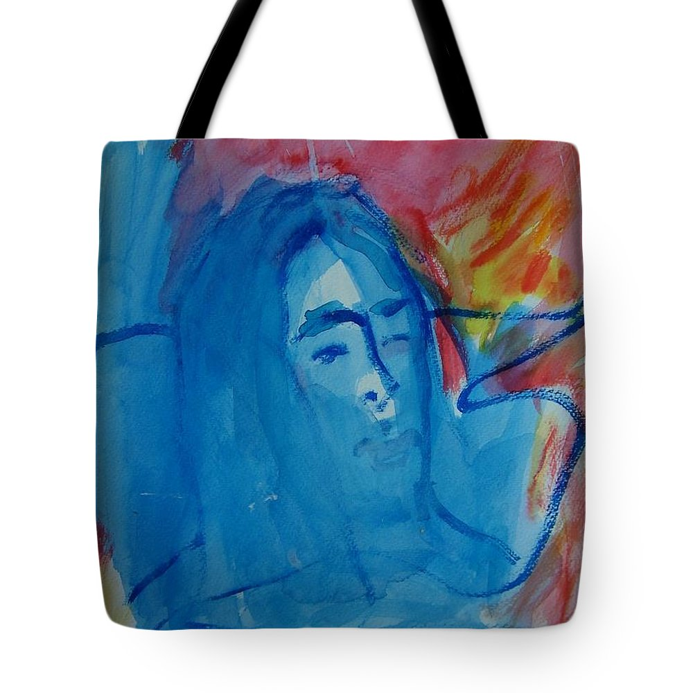 Abstract Tote Bag featuring the painting Lost Lady by Judith Redman