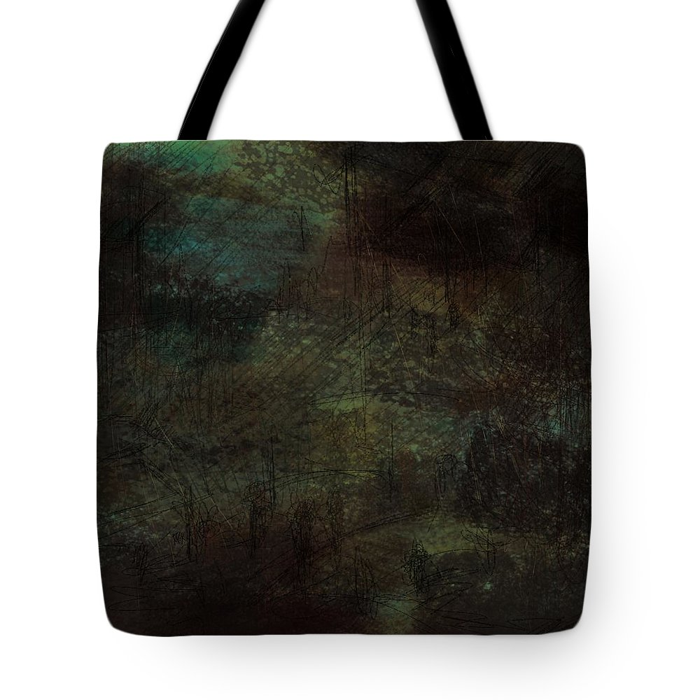 Abstract Tote Bag featuring the digital art Lost Memories by Rachel Christine Nowicki