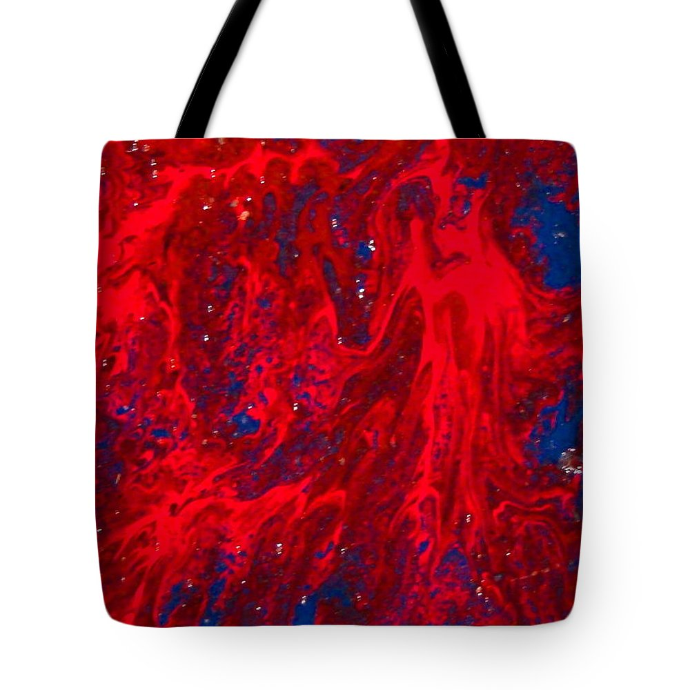Abstract Art Tote Bag featuring the painting Lost Souls by Natalie Holland
