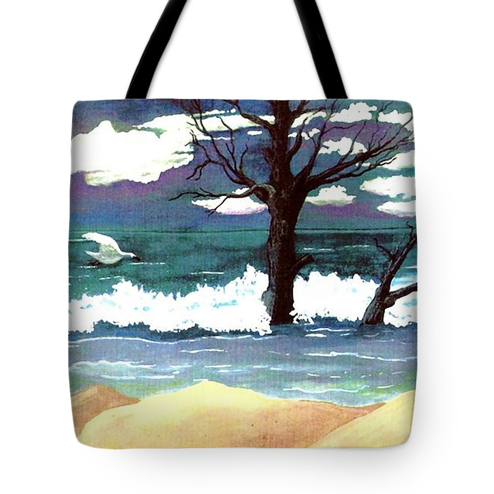 Original Watercolor Painting Tote Bag featuring the painting Lost Swan by Patricia Griffin Brett
