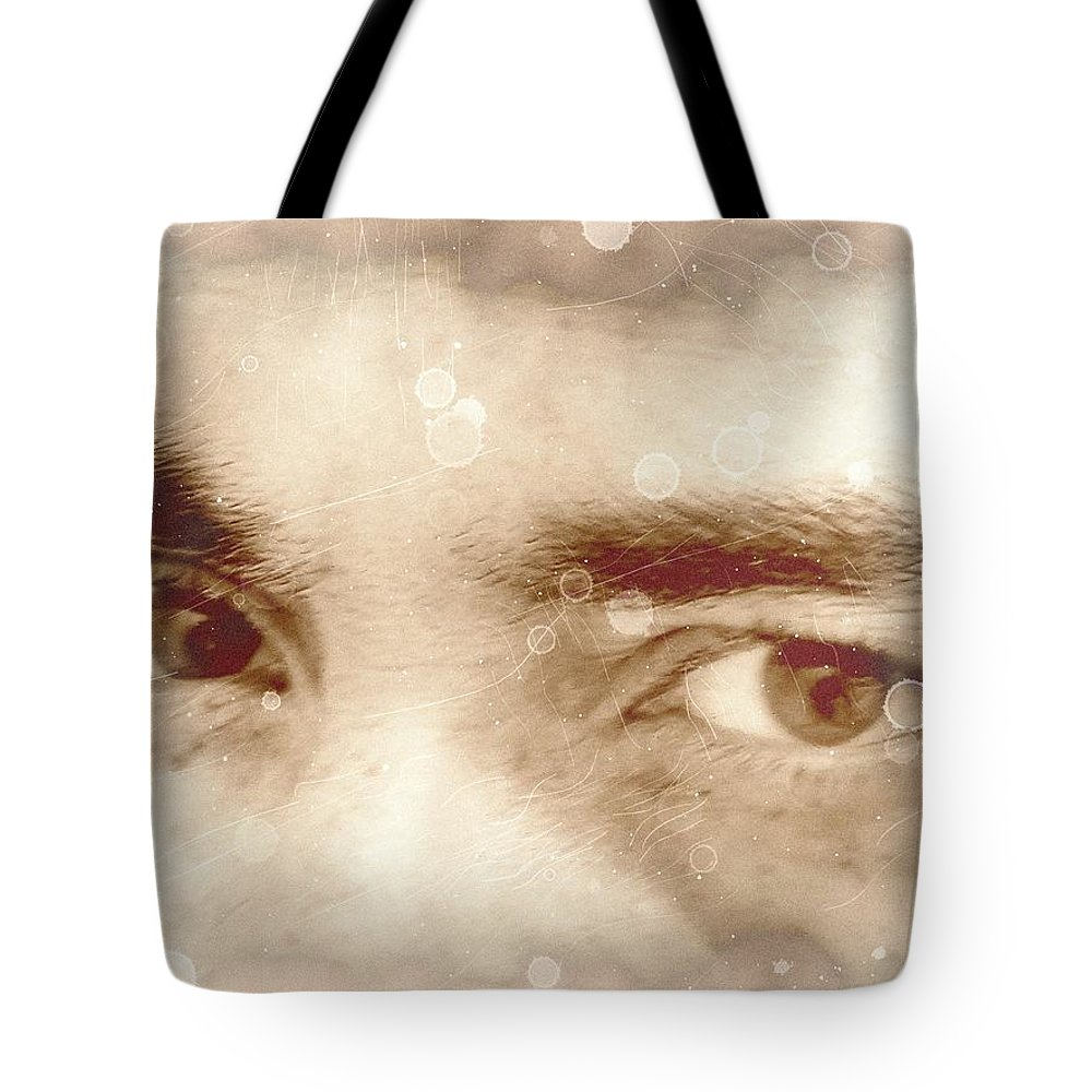 Eyes Tote Bag featuring the photograph Lost - Visceral by Beto Machado