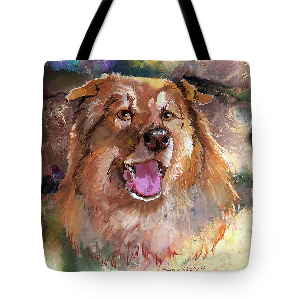 Dog Tote Bag featuring the painting Lots Of Love by Sherry Shipley