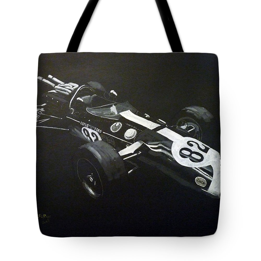Lotus 38 Tote Bag featuring the painting Lotus 38 No82 by Richard Le Page