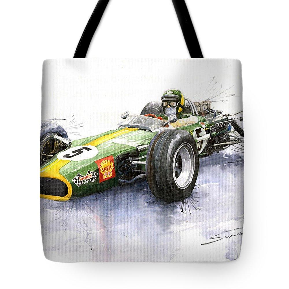 Lotus 49 Ford F1 Jim Clark Tote Bag for Sale by Yuriy Shevchuk