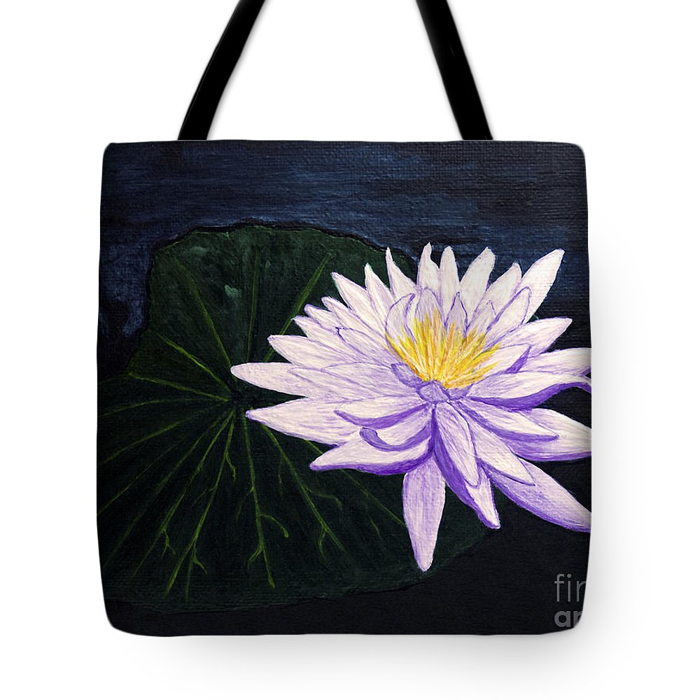 Original Painting Tote Bag featuring the painting Lotus Blossom At Night by Patricia Griffin Brett