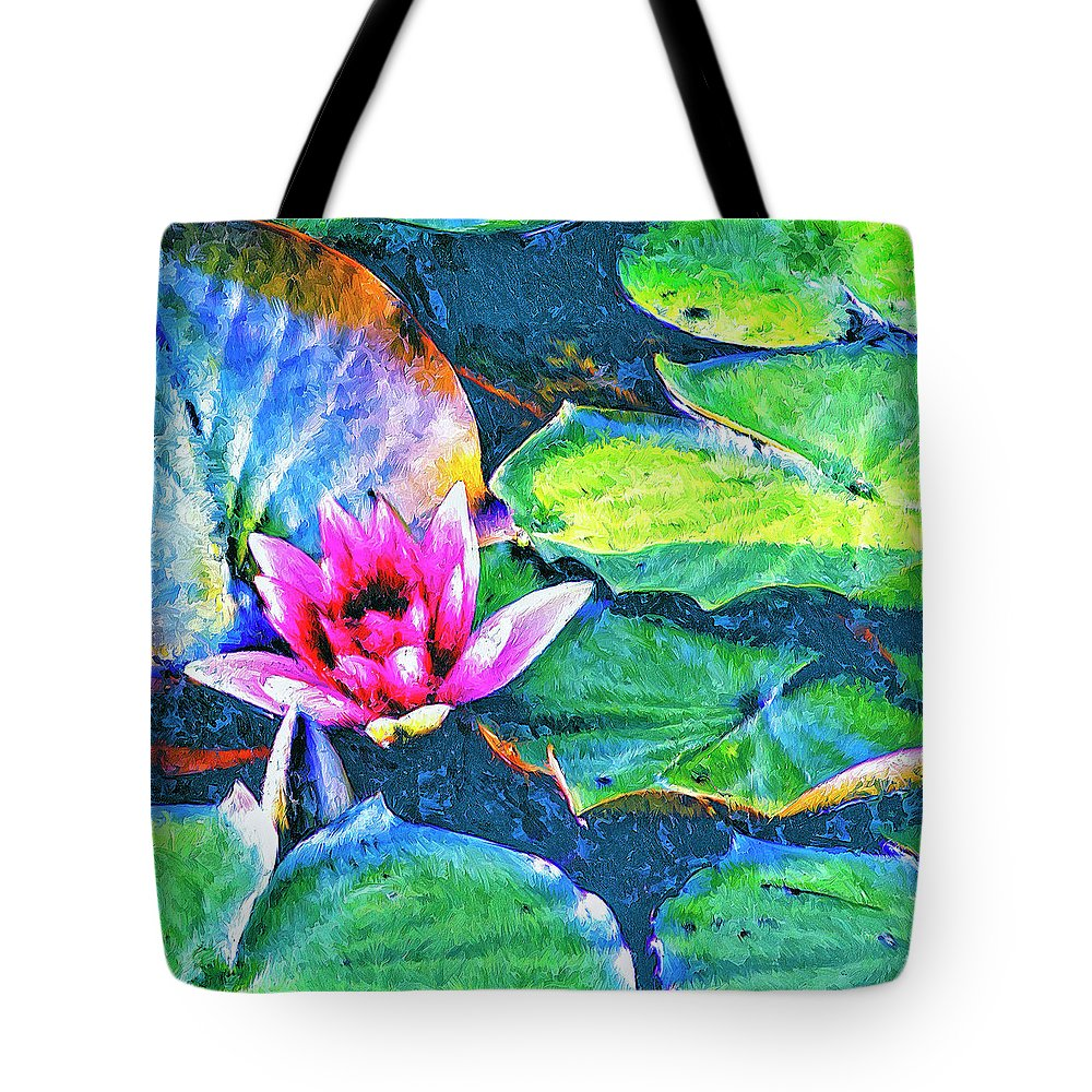 Lotus Blossom Tote Bag featuring the painting Lotus Blossom by Dominic Piperata