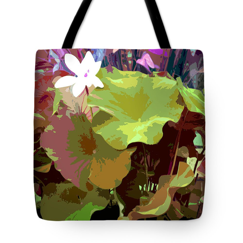 Lotus Tote Bag featuring the photograph Lotus Design by John Lautermilch
