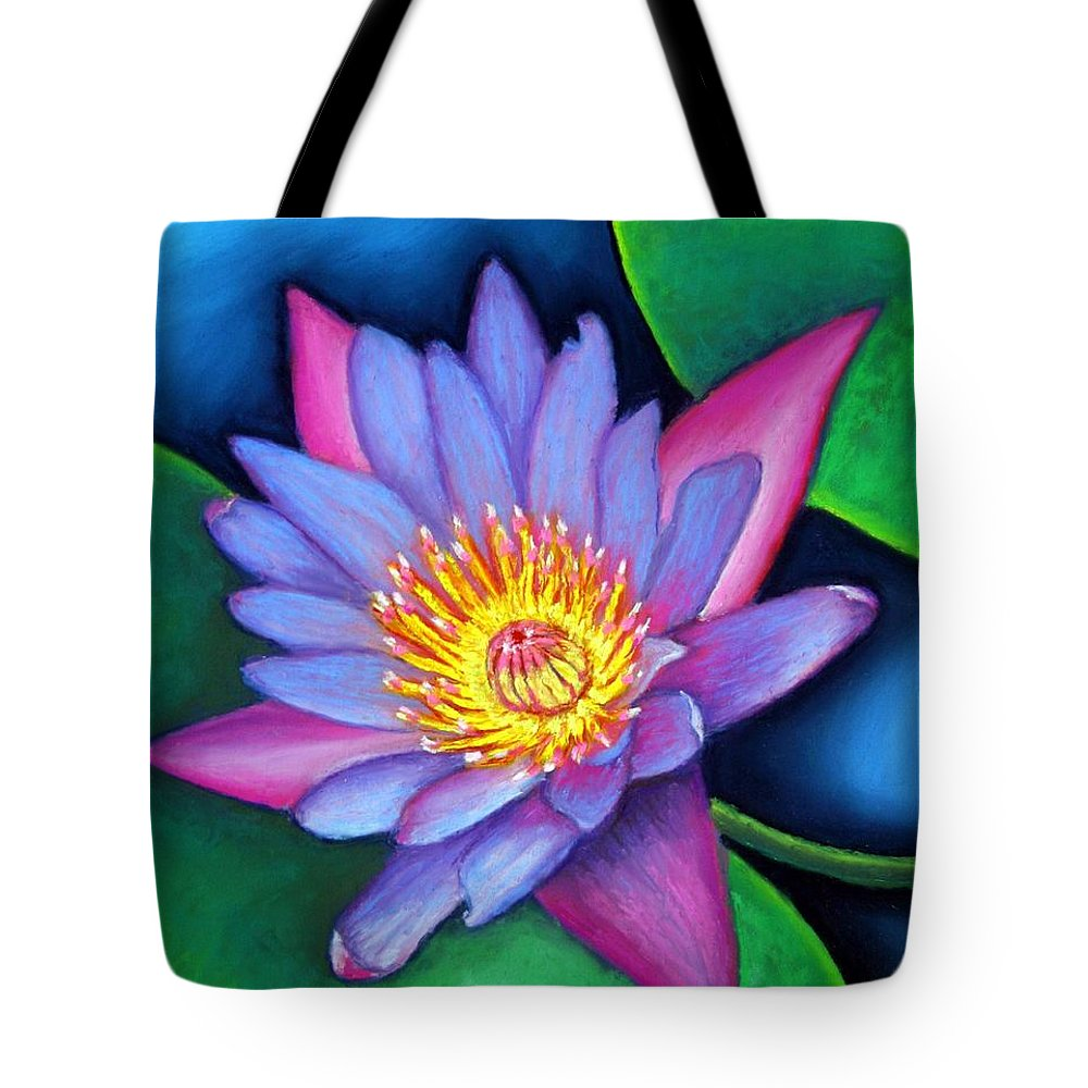Flower Tote Bag featuring the painting Lotus Divine by Minaz Jantz
