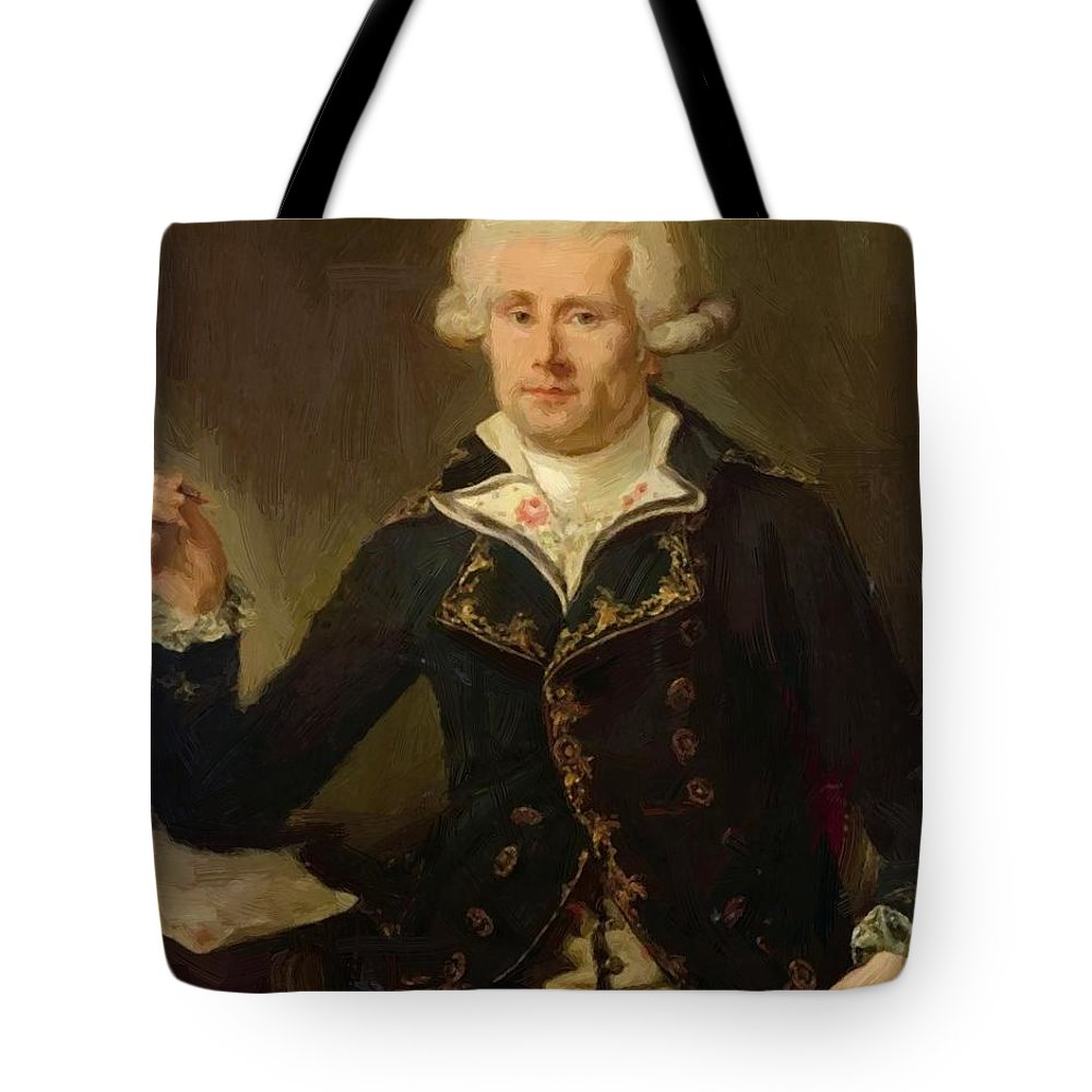 Louis Tote Bag featuring the painting Louis Antoine De Bougainville 1790 by Ducreux Joseph