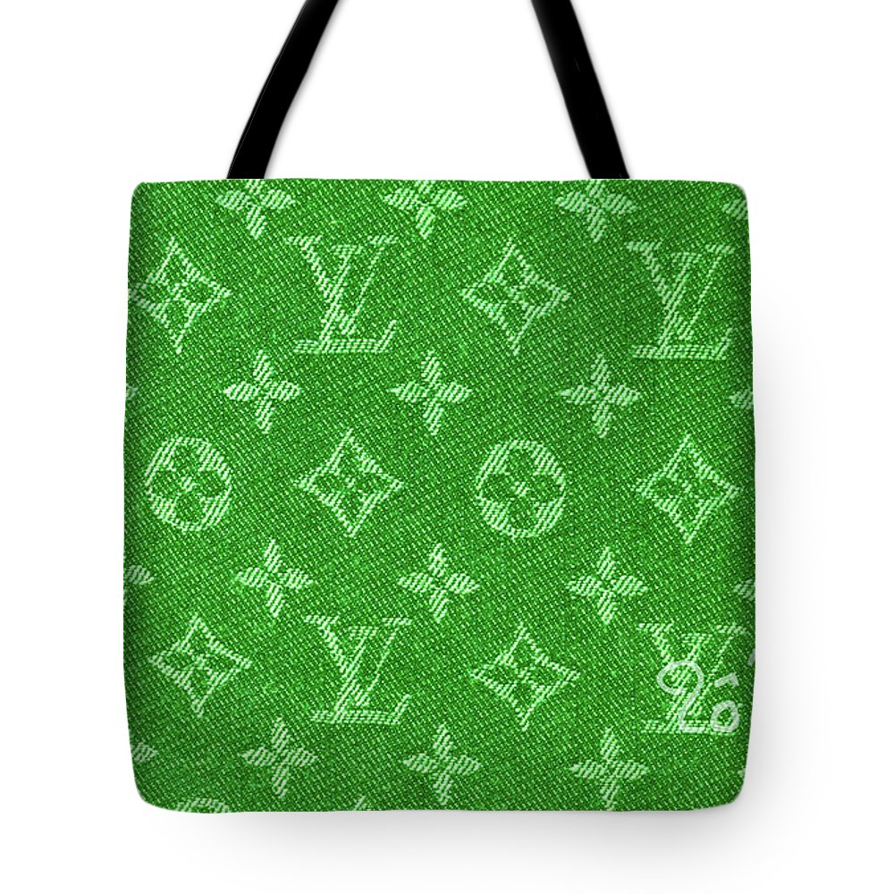 76eb29db637f Louis Vuitton Tote Bag featuring the photograph Louis Vuitton Fabric Green  Monogram by To-Tam