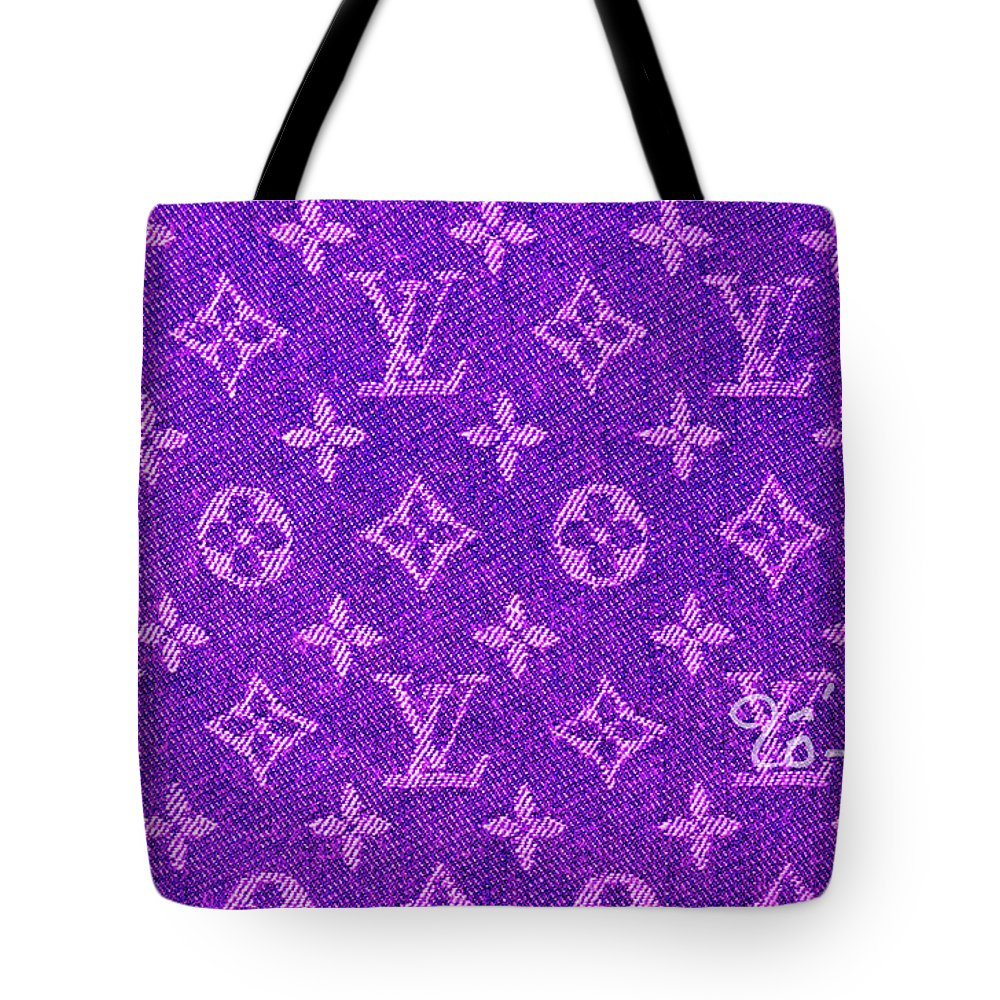 8f7c469bc617 Louis Vuitton Tote Bag featuring the digital art Louis Vuitton In Purple  Monogram by To-