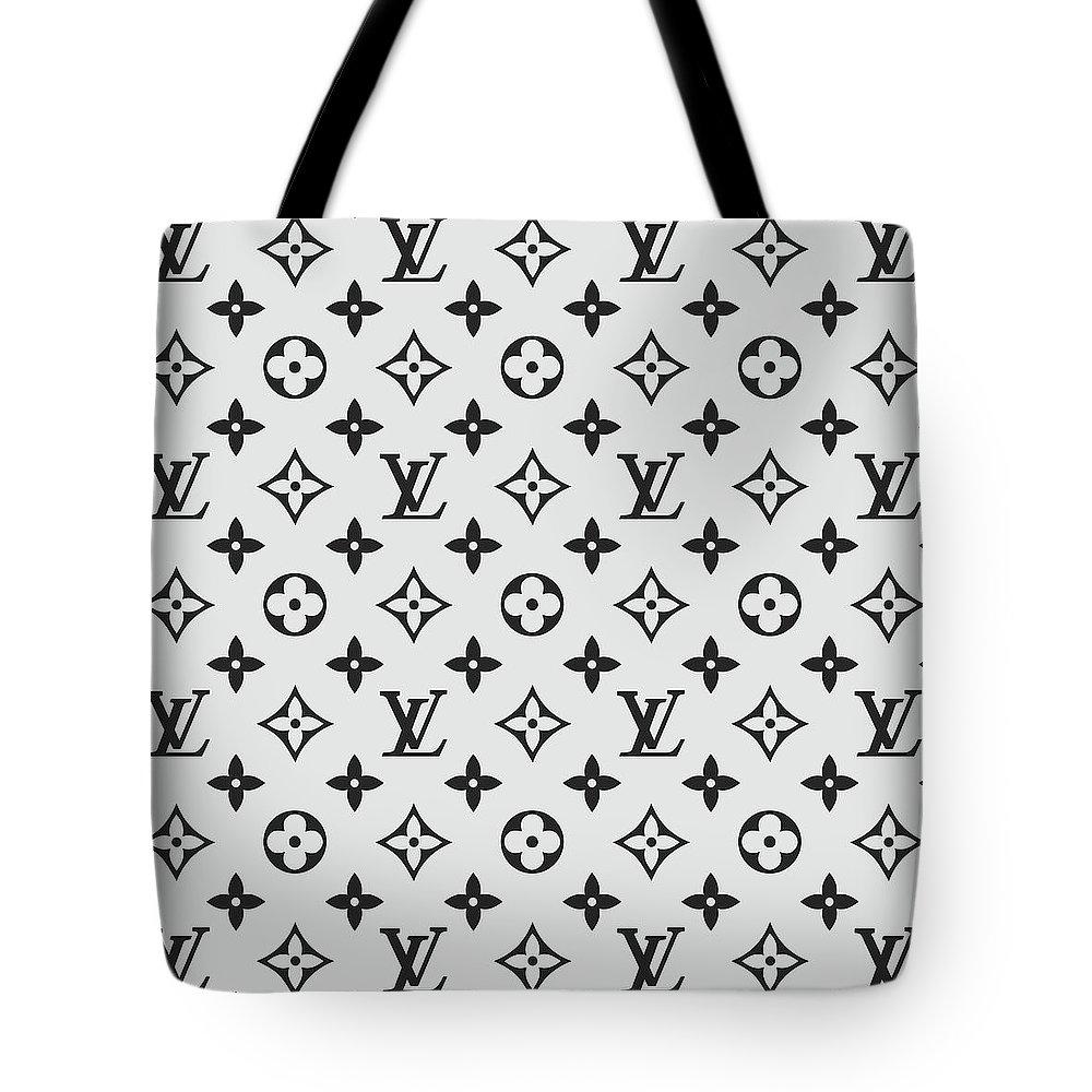 8b50f9d229b9 Louis Vuitton Tote Bag featuring the digital art Louis Vuitton Pattern Lv  07 Grey by TUSCAN