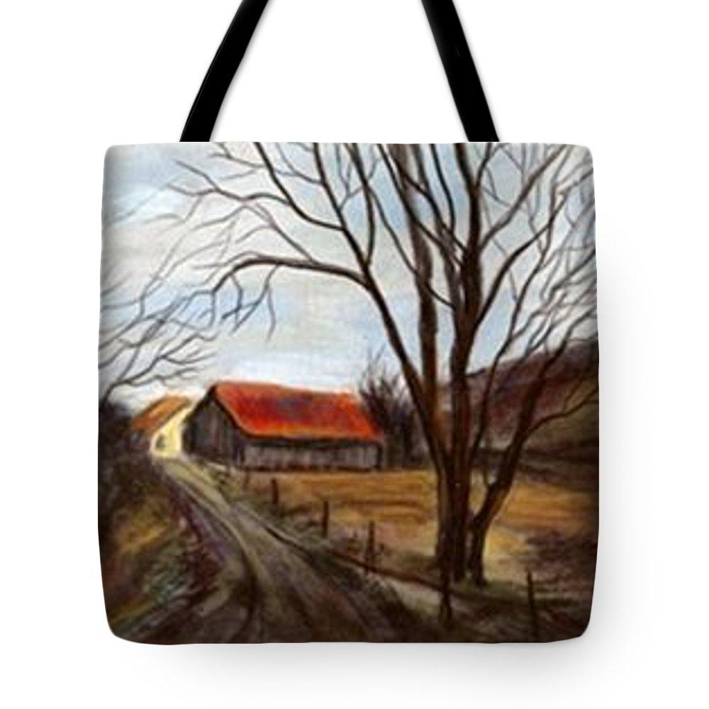 Barn Tote Bag featuring the painting Louisa Kentucky Barn by Gail Kirtz