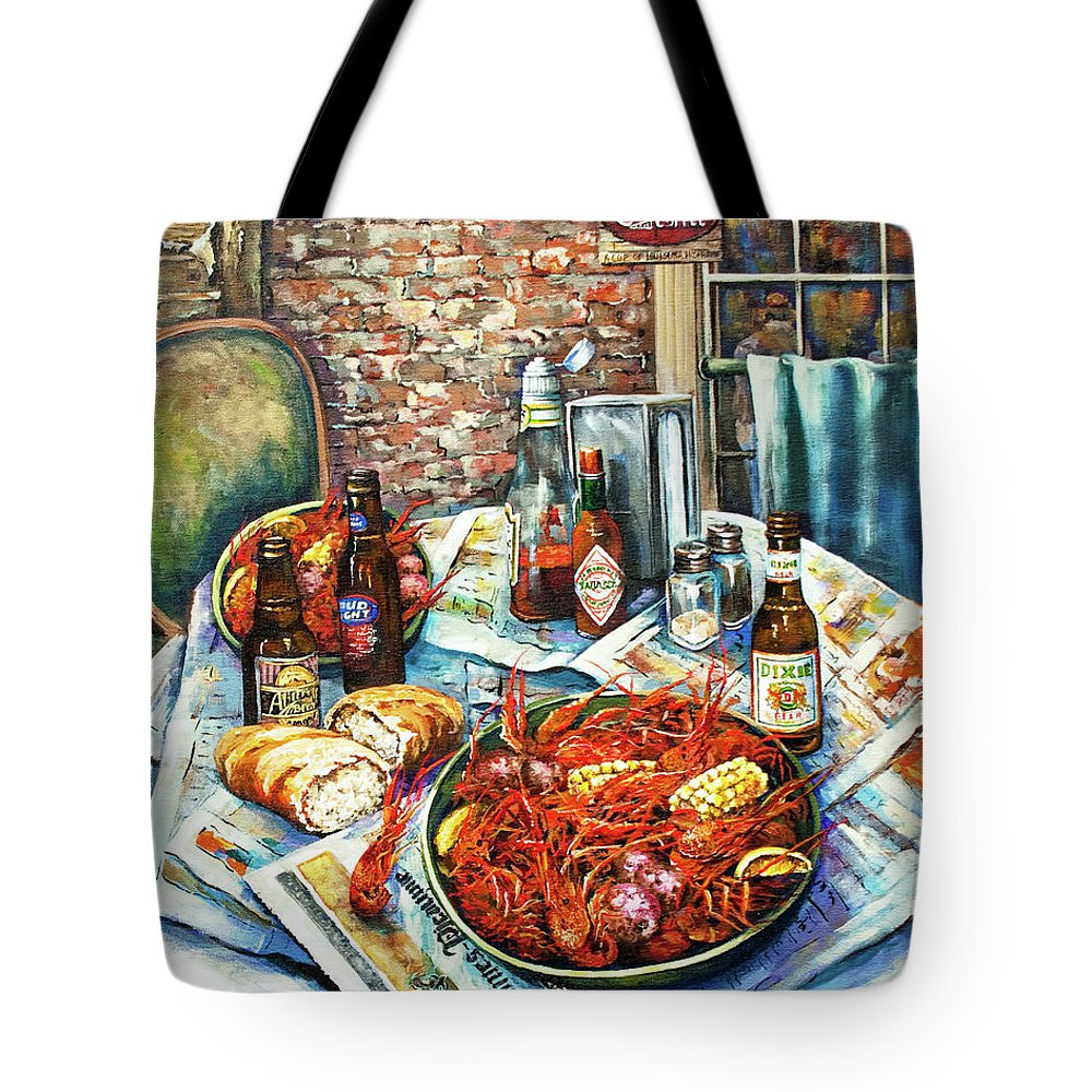 New Orleans Art Tote Bag featuring the painting Louisiana Saturday Night by Dianne Parks