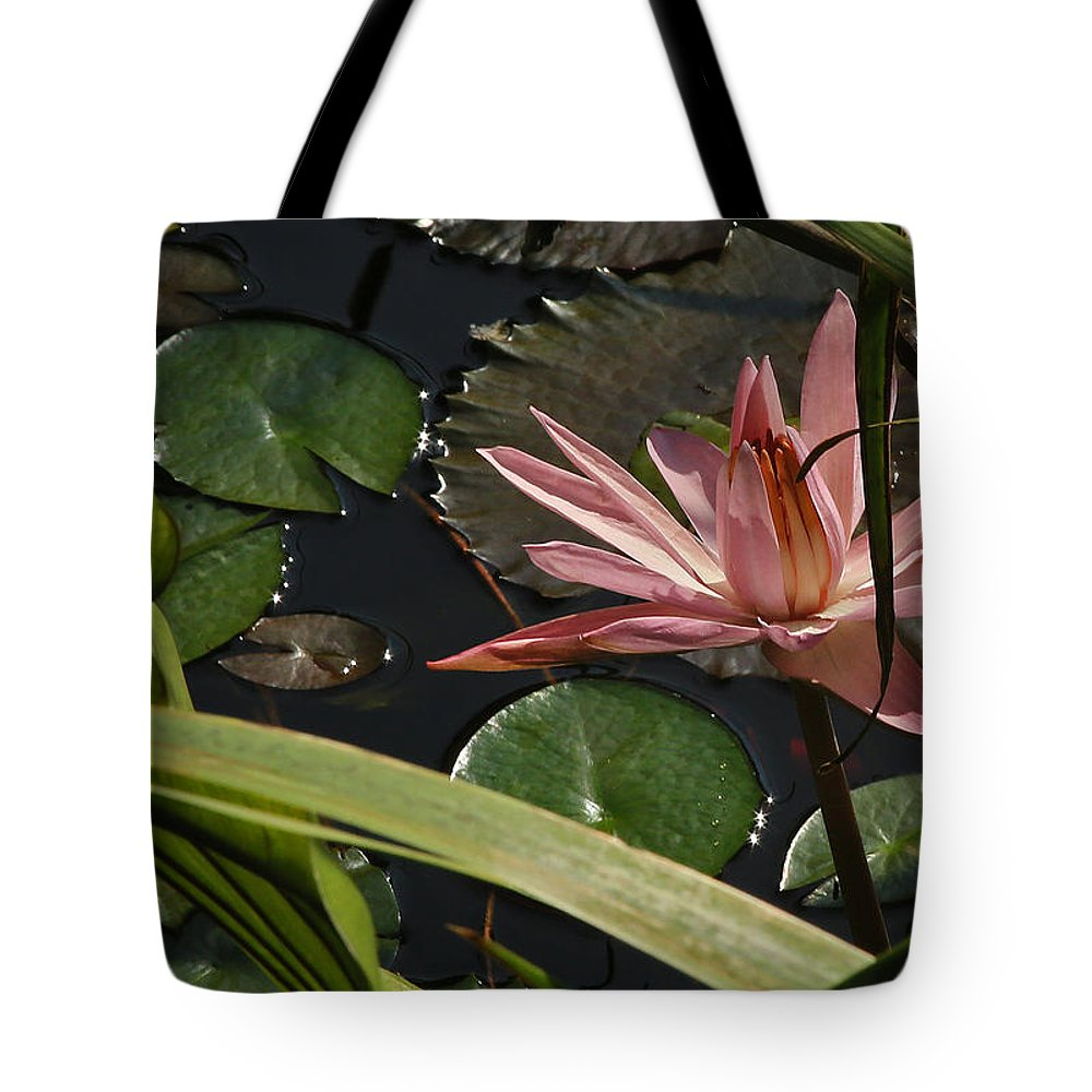 Louisiana Water Lilly Tote Bag featuring the photograph Louisiana Waterlilly by Ronald Olivier