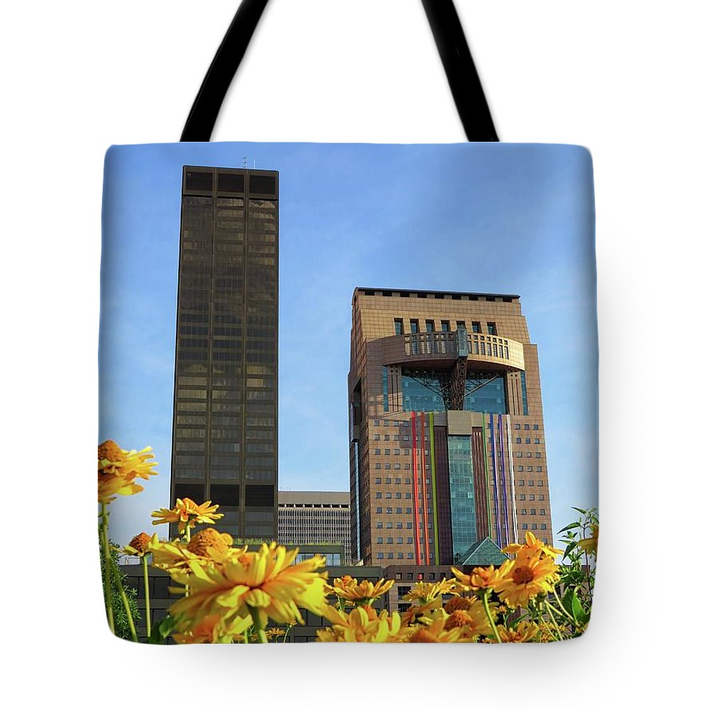 Louisville Tote Bag featuring the photograph Louisville Floral by Connor Beekman