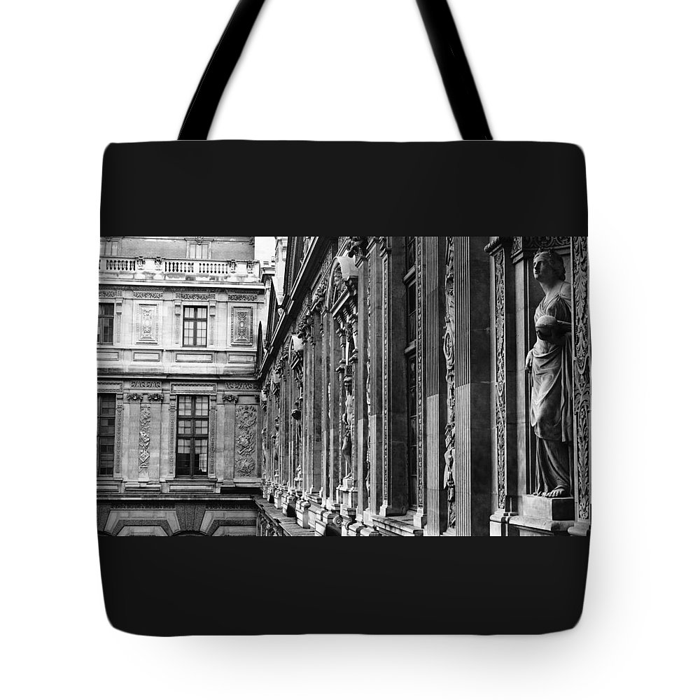 Europe Tote Bag featuring the photograph Louvre Statues Paris France by Lawrence S Richardson Jr