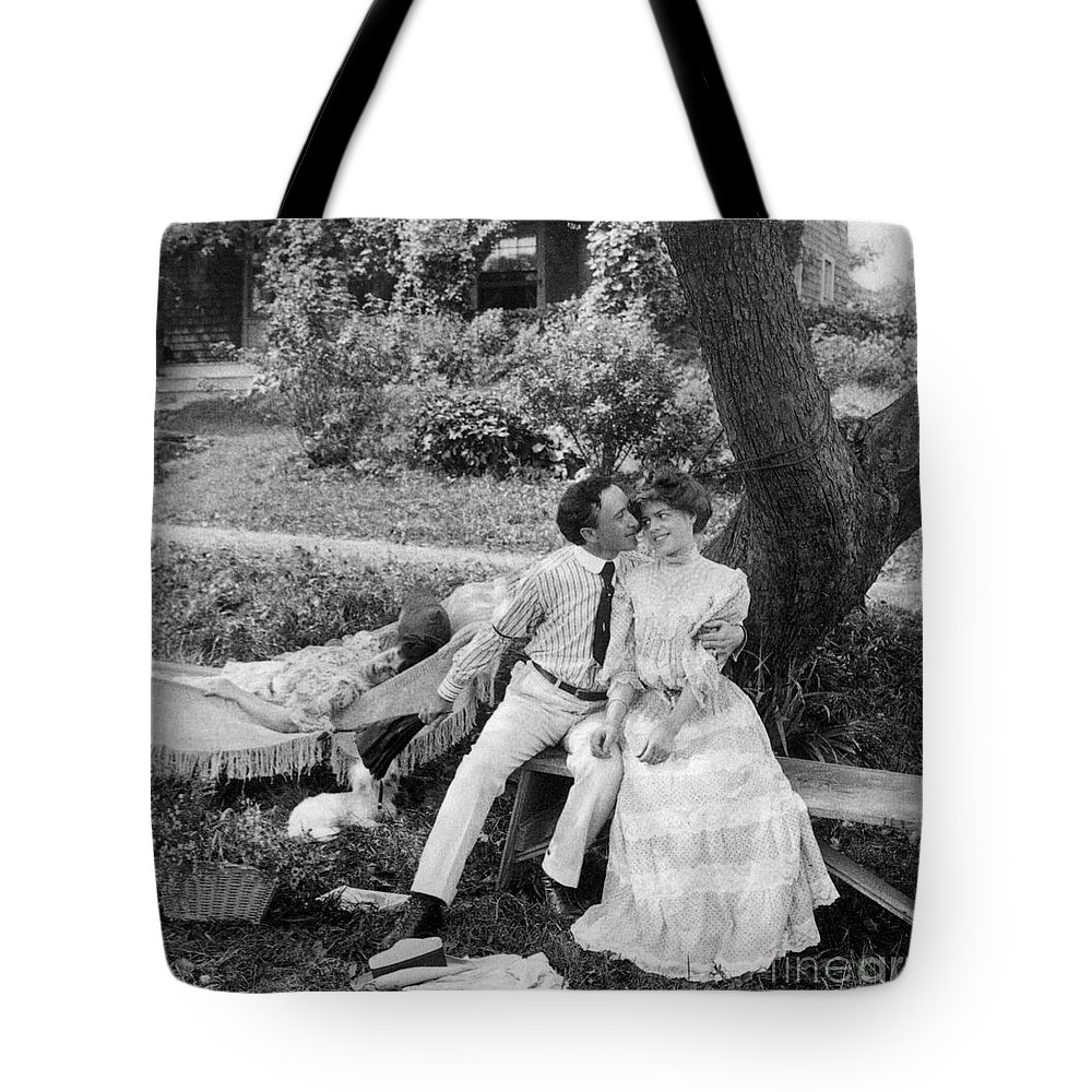 20th Century Tote Bag featuring the photograph Love, 1906 by Granger