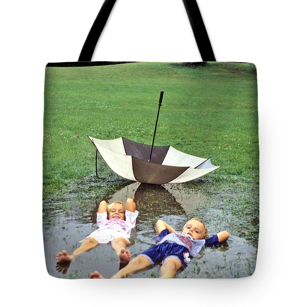 Children Tote Bag featuring the photograph Love A Rainy Day Series by Laurie Paci